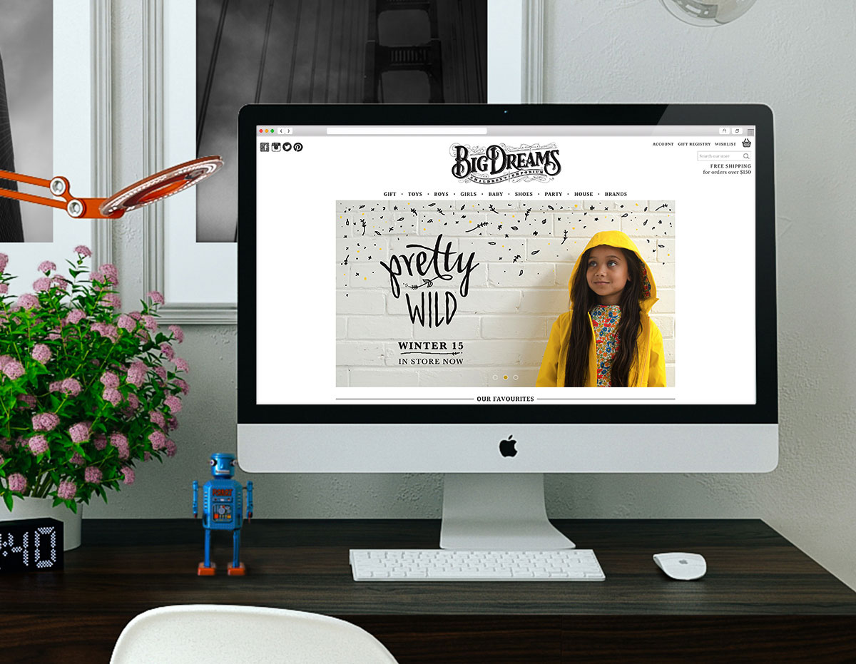 Big Dreams Homepage Design